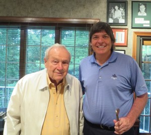 With Mr. Palmer in the home office in Latrobe, PA.