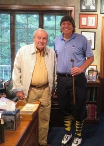 With Mr. Arnold Palmer in his home office in Latrobe, PA.
