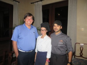 With Pastry Chef Katiria Nieves Diaz and Chef Jose Carles Fabregao. There food satisfies my hunger and is part of Royal Isabela's fascination and inspiration!