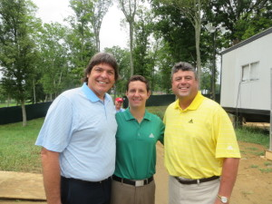 With host Andrew Catalon and analyst Billy Ray Brown at the PGA at Valhalla.