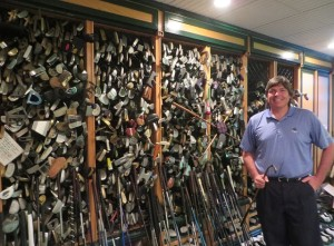 In Mr. Palmer's Workshop along the 'Putter Wall.'