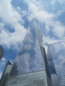 The Freedom Tower, the new One World Trade Center, is the skyline pointer to find the Memorial & Museum.