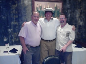 With Chris Rodell (right) and Kevin Drum (left) a few years ago in Mississippi.