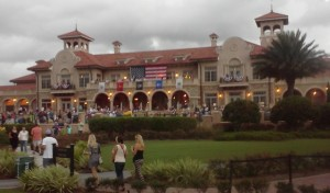 Clubhouse at TPC Sawgrass all decked out for Friday's Military Celebration  at last year's Web.com  Tour Championship.