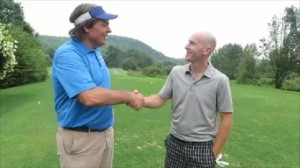 Meeting Rob Riedinger for the first time on the first tee. Rob is an exceptional person with a great golf attitude!