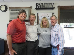 With the present day Nicholsen owner & operating family—Wayne, Gail and Gary from left-to-right.