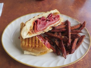 I had the tasty Italian Deli Panini in the Tavern after golf. Nice 19th hole with a view of the first tee, golf course and Catskill Mountains.