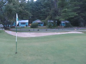 My cabin was right off the 18th green. Cronin's is located in the heart of the Adirondacks tourist area only an hour from downtown Albany.