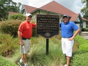 Played Heather Glen, Best New Public GOlf Course in 1987, with my new friend Brian Gallen.