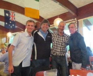 With Christian & Erik Gundersen & Gary Nicholsen (far R) at dinner the first night.