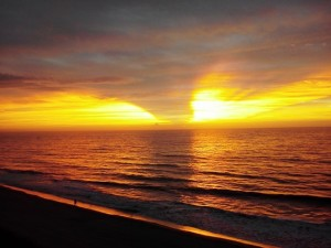 A glorious sunrise greeted me on my birthday at the Sea Mist Oceanfront.
