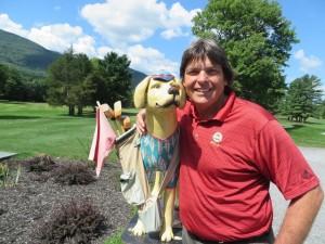 With my golfing buddy, the Back Nine Bud Dog!