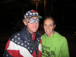 Gary Nicholsen, Mr. Patriot, with Cyvelle `Tinker` Nicholsen at the Lake Party Friday night.