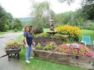 Lovely Lady Gardener Lucy is the reason the grounds are so beautiful at Cronin's.