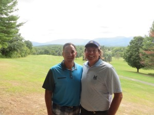 With Kevin Smith, the Director of Golf at Sunny Hill, in a very special place, the 5th tee at Thunderhart.