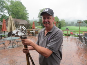 John with his hickory clubs. I can't wait to return and talk more about them and golf history with John.