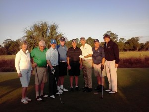 GTWA golfers playing the Pete Dye GC at PGA Village on a beautiful Florida morning!