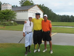 With Mitch Laurance (other knicker guy) and Hugh Royer III in front of the new South Carolina Golf Center.