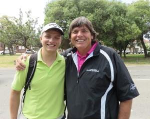 With my new friend Marek, a Czech golfer and golf coach.