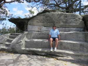 Sitting in Mrs. Macquarie's Chair thinking oh what a view!