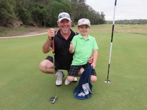 Chris Fox with his son Ty. My gosh, this kid can play! From our tees too!