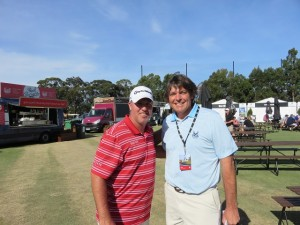 With Boo Weekley who was hanging out in the Exhibitor Village after Round 3.