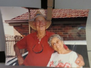 Enid & Dan, the loving couple, in their younger days. Still loving each other after 74 years!