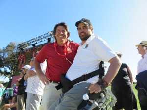 With James Gribble of Empower Golf, who I met on the 18th watching Rory finish his round.