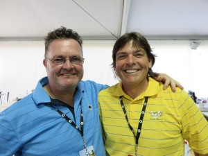 With Mark Hayes, Media Manager for Golf Australia.