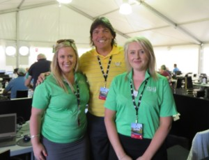 With Olivia McMillan (L) and Bronwyn Slatter (R), Communications Coordinators with the PGA Australia.