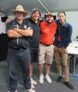 With Golf Link's Rod Morri (hat), Craig Fordham (Orange) & Joey Ratcliiffe (R).