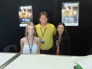 With IMG's Annie Ryan (L) and Cox Marketing's Sally Wright (R). Always smiling and welcoming to the Media Center.