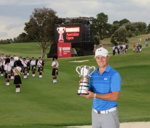 Jordan Spieth won his first professional tournament last year in the USA and won his second in Australia in 2014.