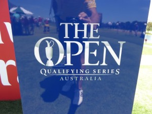 An added incentive on Sunday at the Australian Open, Top 3 golfers, not otherwise exempted, earn a spot in the 2015 Open Championship at St. Andrews, Scotland.