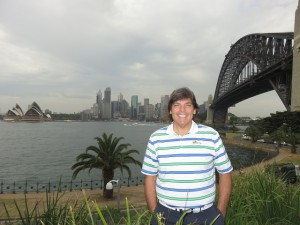 Trifecta—Opera House, Sydney Skyline, Harbour Bridge & me!