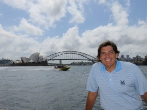 One view is to the Harbour Bridge and Opera House...