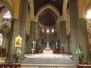 Inside of the St. Patrick's Cathedral Melbourne.