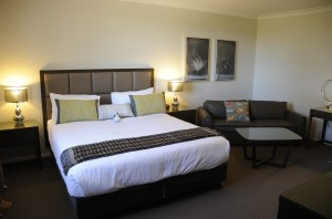 A Riverside Oaks room is spacious, comfortable and inviting!