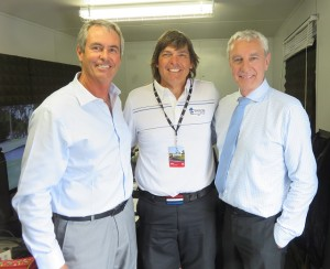 With Seven commentators Ian Baker Finch (L) and Peter Donegan (R).