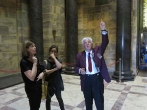 Docent George pointing to where the light comes from and he should be pointing to himself too, what an inspirational guy!