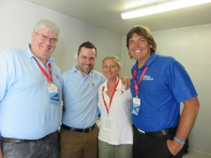With Wayne, Chris & Vanessa of the Seven Sport Network team broadcasting the Australian Open.
