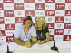With the Divine Kathie Shearer, Australian Golf's Ultimate Hostess in the Media Center!