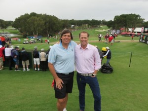 With Australia's youngest and brightest commentator, and a true sportsman, Luke Elvy. Only the second person (with Ian Baker Finch last week at the Masters) that I have met in Australia that I knew previously!