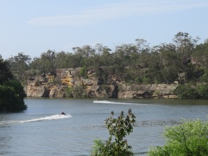 There are water sports on the Hawkesbury River after the golf sports at Riverside Oaks.