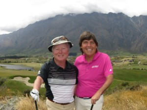 With my Kiwi Genie in Golf Peter Devine at Jack's Point evidently with a fisheye camera setting!