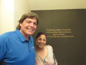 With Shammi Sandhu at her Mantra Restaurant in Arrowtown!