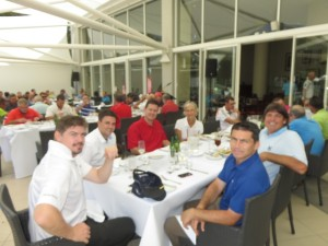 Lunch with the team afterwards. First class well run event just like the PGA Championship!