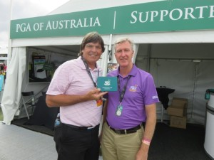 In the Exhibitor's Village I met Ross Cooper from Key Return, a supplier to the PGA of Australia in their Supporting Member initiative.