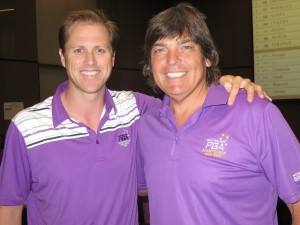 With Australian golf & rugby commentator Luke Elvy in the Media Center.