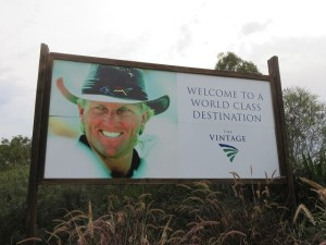 A Greg Norman welcome to The Vintage Resort in Hunter Valley, tow hours north of Sydney.